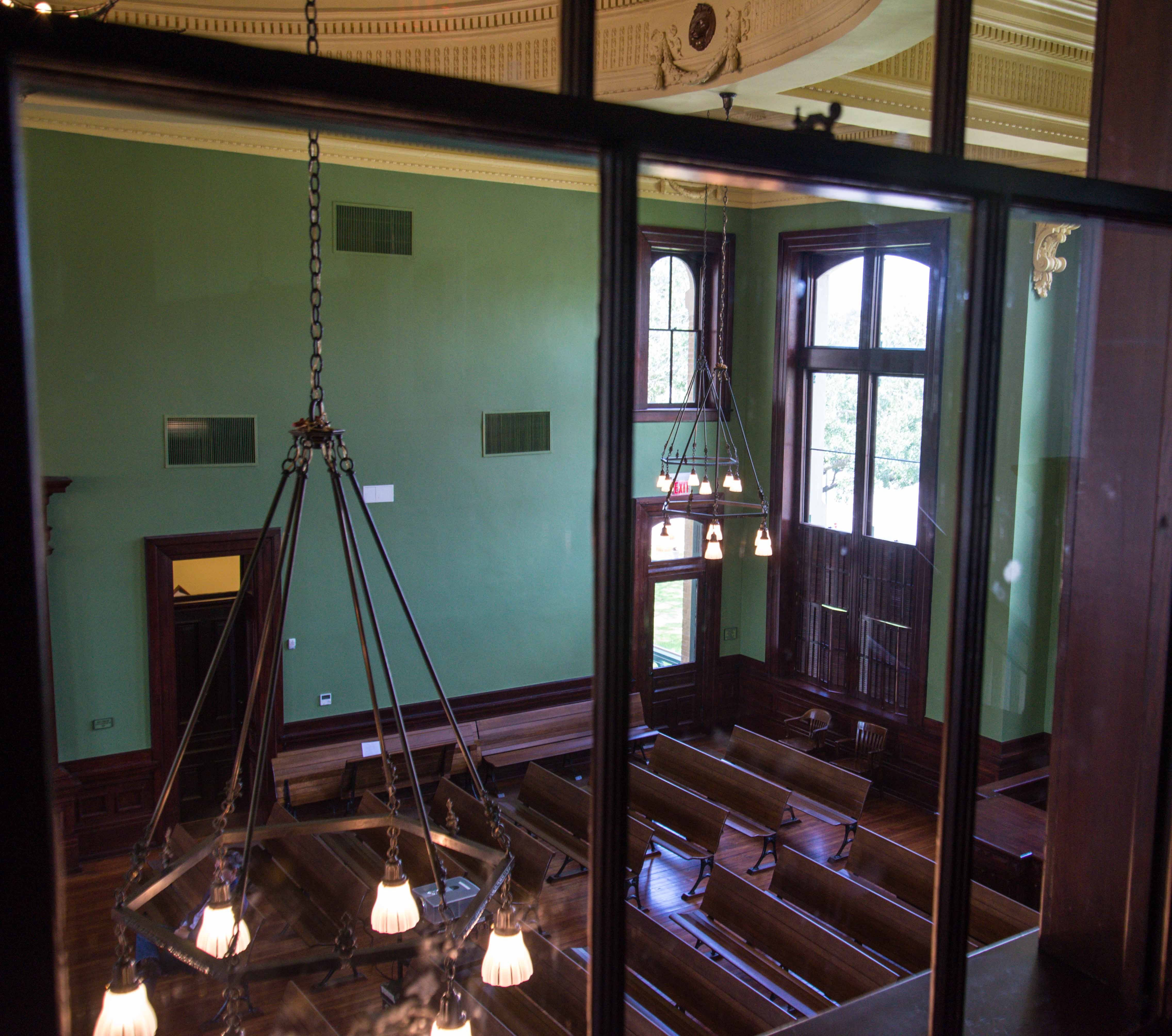 Upstairs view of District Courtroom