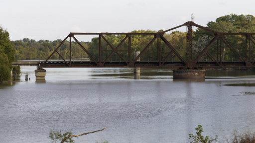 Trinity River Swing Bridge